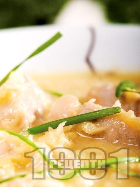 Соеви хапки със сос от бяло вино и хрян - снимка на рецептата